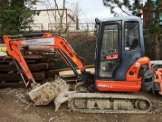 2016 Kubota KX101-3 Cabbed Mini Excavator