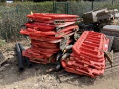 Approx. (40) Red Plastic Traffic Barriers