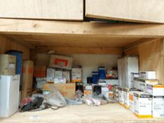 Contents of Shelf to include Hitachi Genuine Parts and Consumables