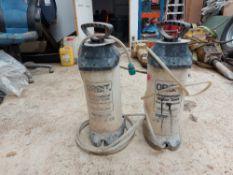 (2) Orbit 10 Ltr Pressurised Water Container