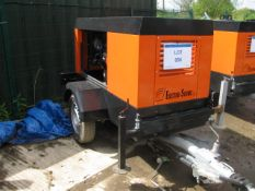 Electro Services lighting tower chassis with Kubota D1105 engine