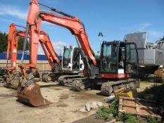 Kubota KX080-4 rubber tracked excavator