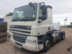 DAF CF FTG 85.410, 3 axle tractor unit MX12 EUN