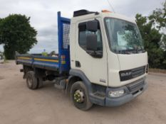 DAF LF FA 45.160 Ti with Paccar tipper body and reversing camera YJ62 HRC