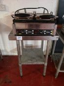 Vogue Stainless Steel 600mm Square Preparation Table
