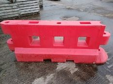 (32) Large Water/Sand Filled Safety Barriers