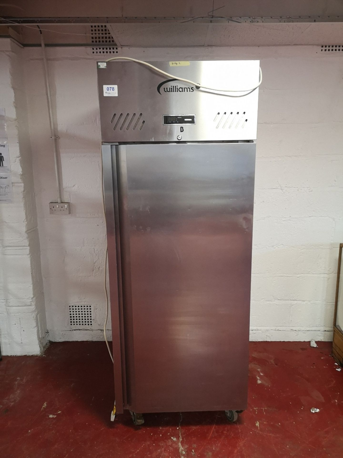 Williams Jade HJ1SA R1 620Ltr Single Door Upright Stainless Steel Fridge