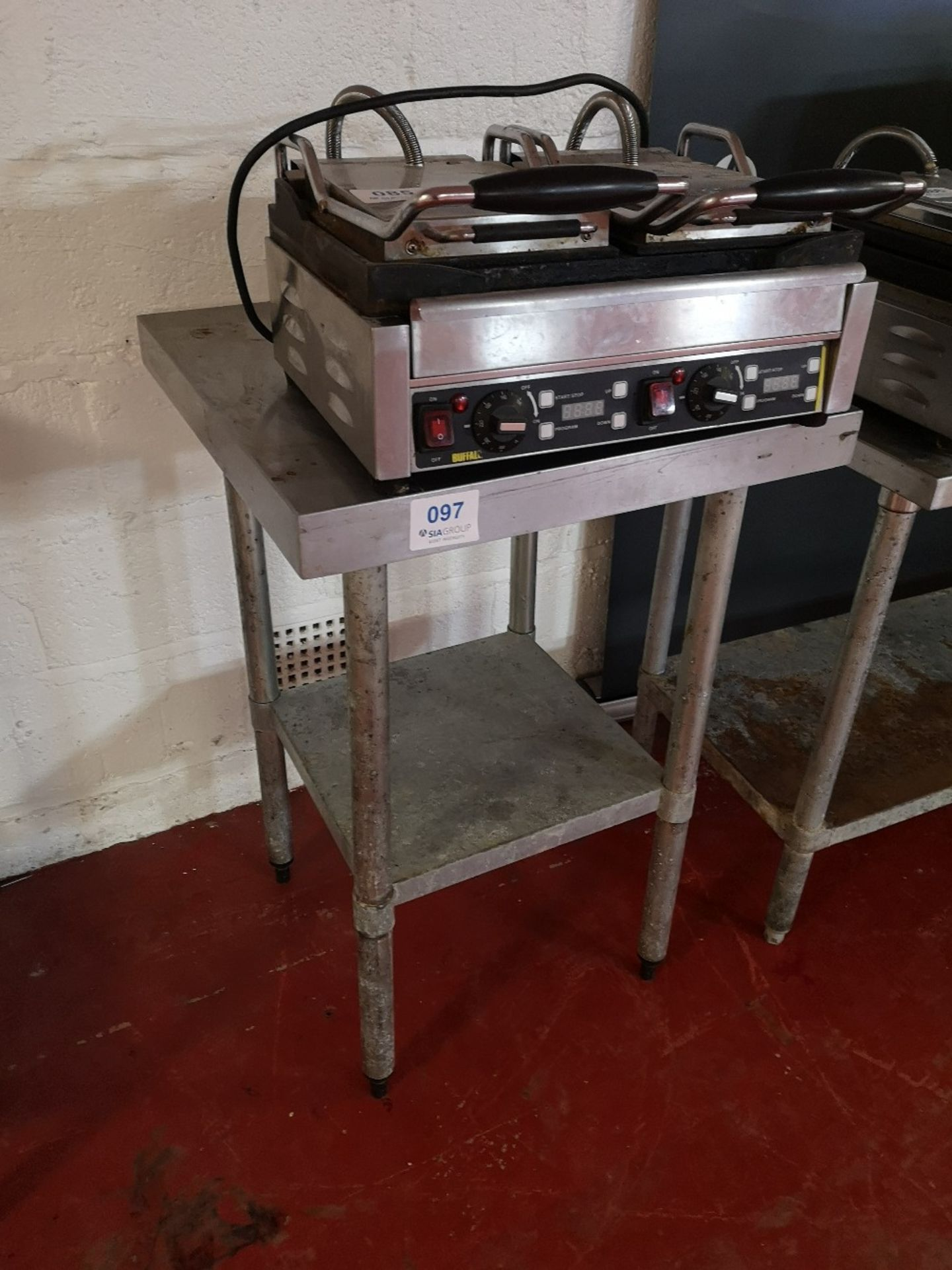 Vogue Stainless Steel 600mm Square Preparation Table - Image 2 of 2