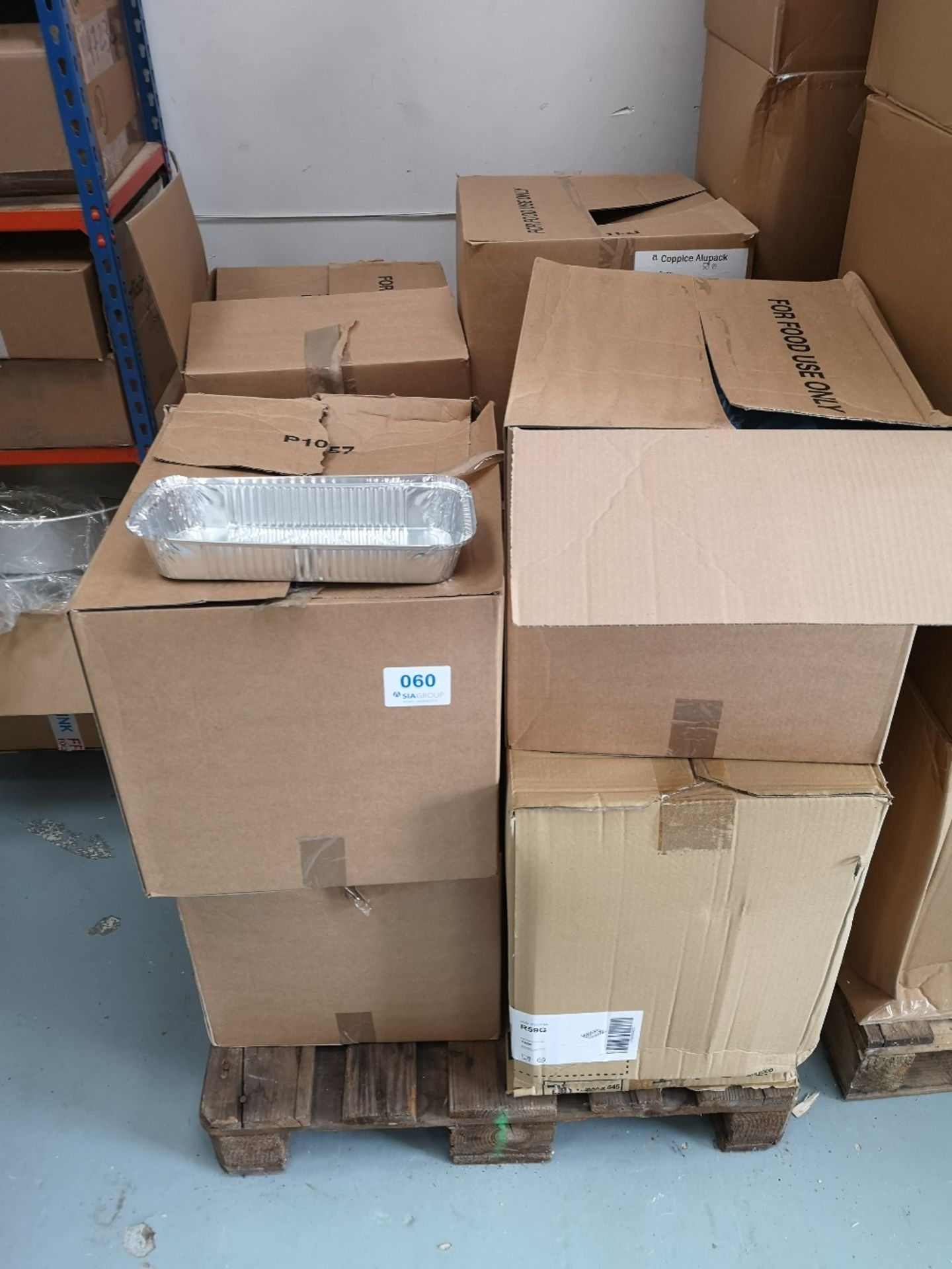 Pallet of Various Sized Foil Food Containers