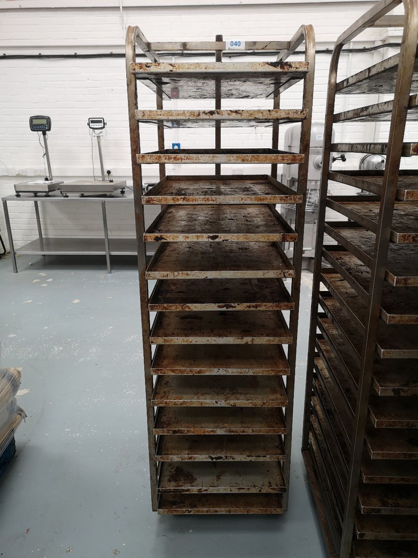 Fourteen Slot Bakery Rack/Tray Trolley
