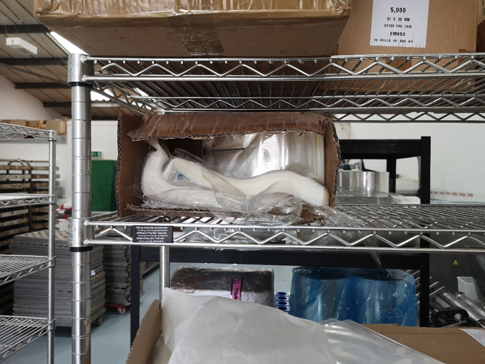 Chrome Wire Five Tier Rack & Contents - Image 6 of 7