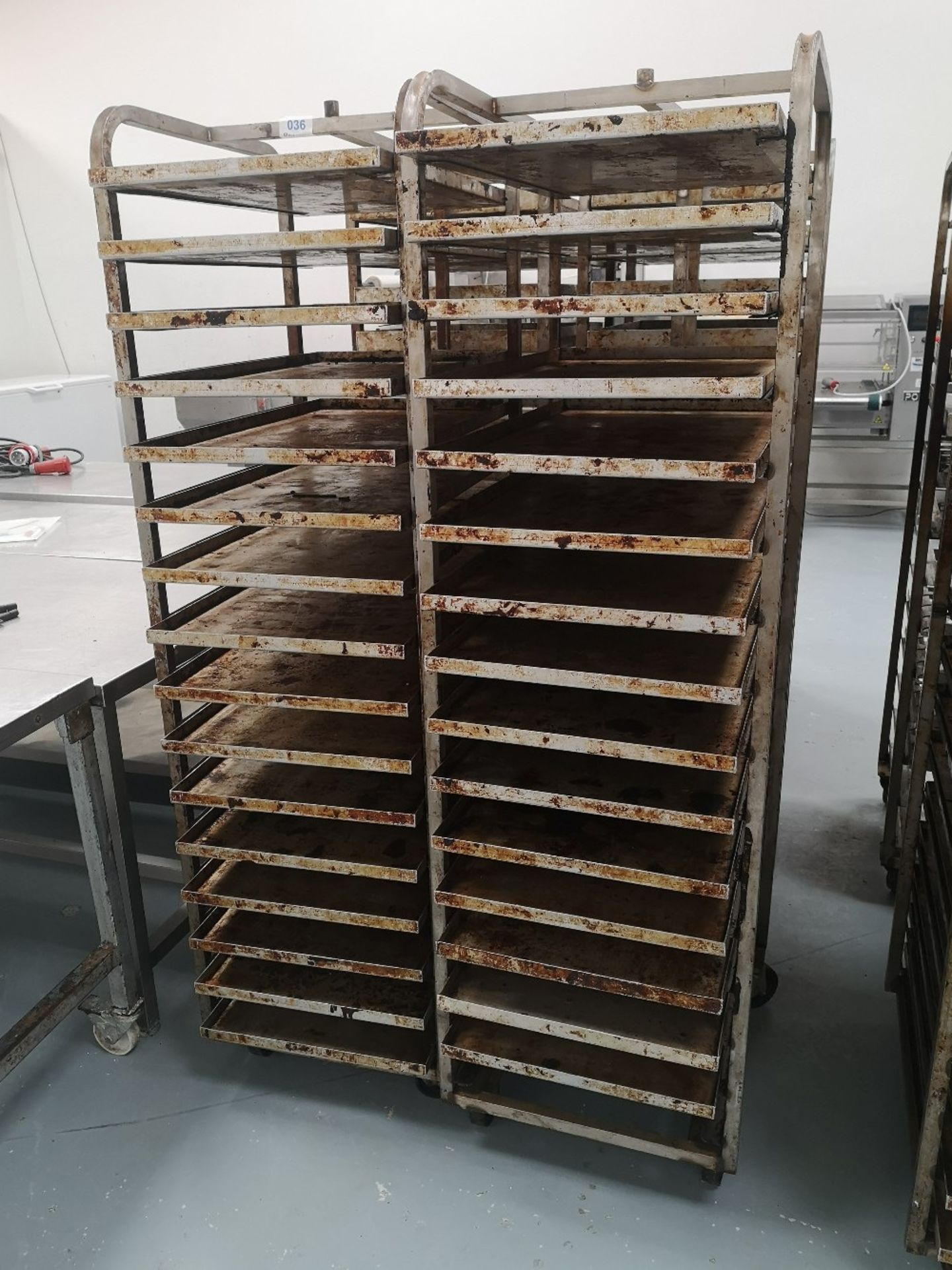 (2) Sixteen Slot Bakery Rack/Tray Stainless Steel Trollies - Image 2 of 3