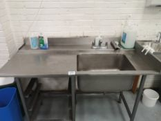 Stainless Steel Single Sink Unit with Runoff Table