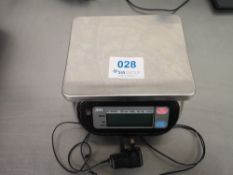 A&D Weighing SK-1000WP Portable Washdown Scale