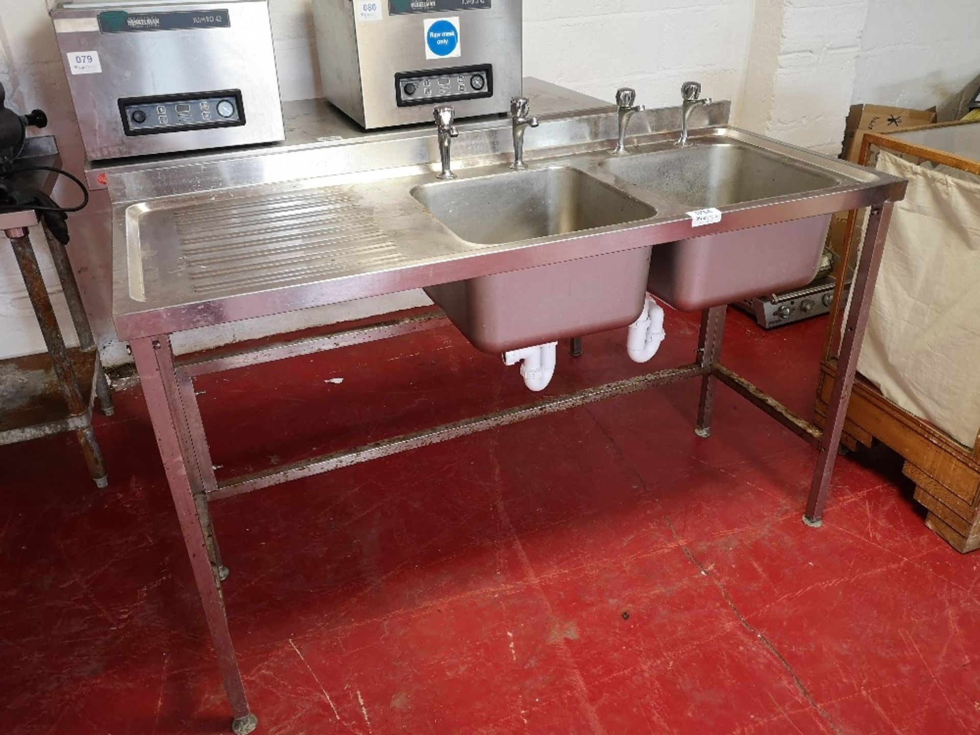 Stainless Steel Double Sink Unit - Image 2 of 3