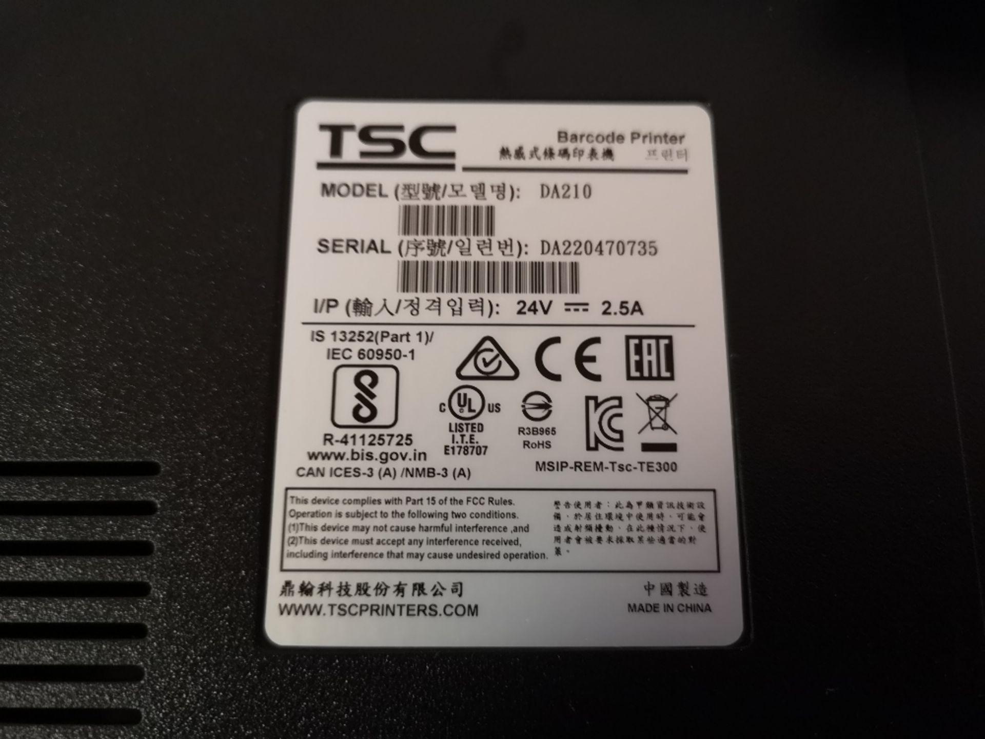 TSC DA210 Thermal Label Printer - Image 3 of 3