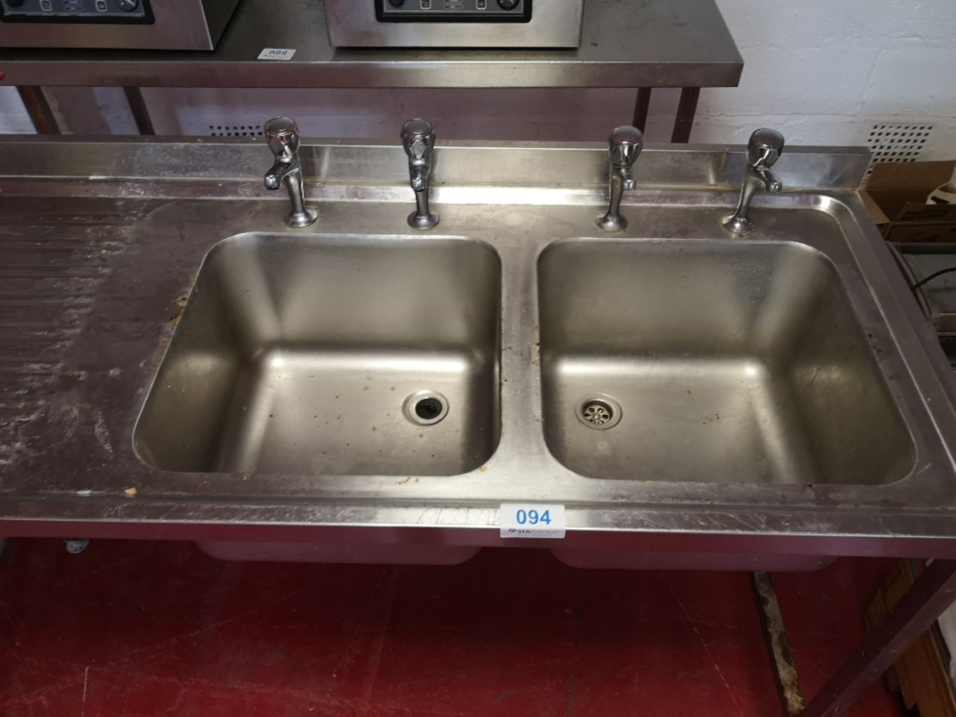 Stainless Steel Double Sink Unit - Image 3 of 3