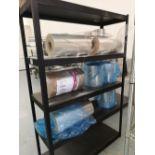 Steel Framed Five Tier Rack & Contents