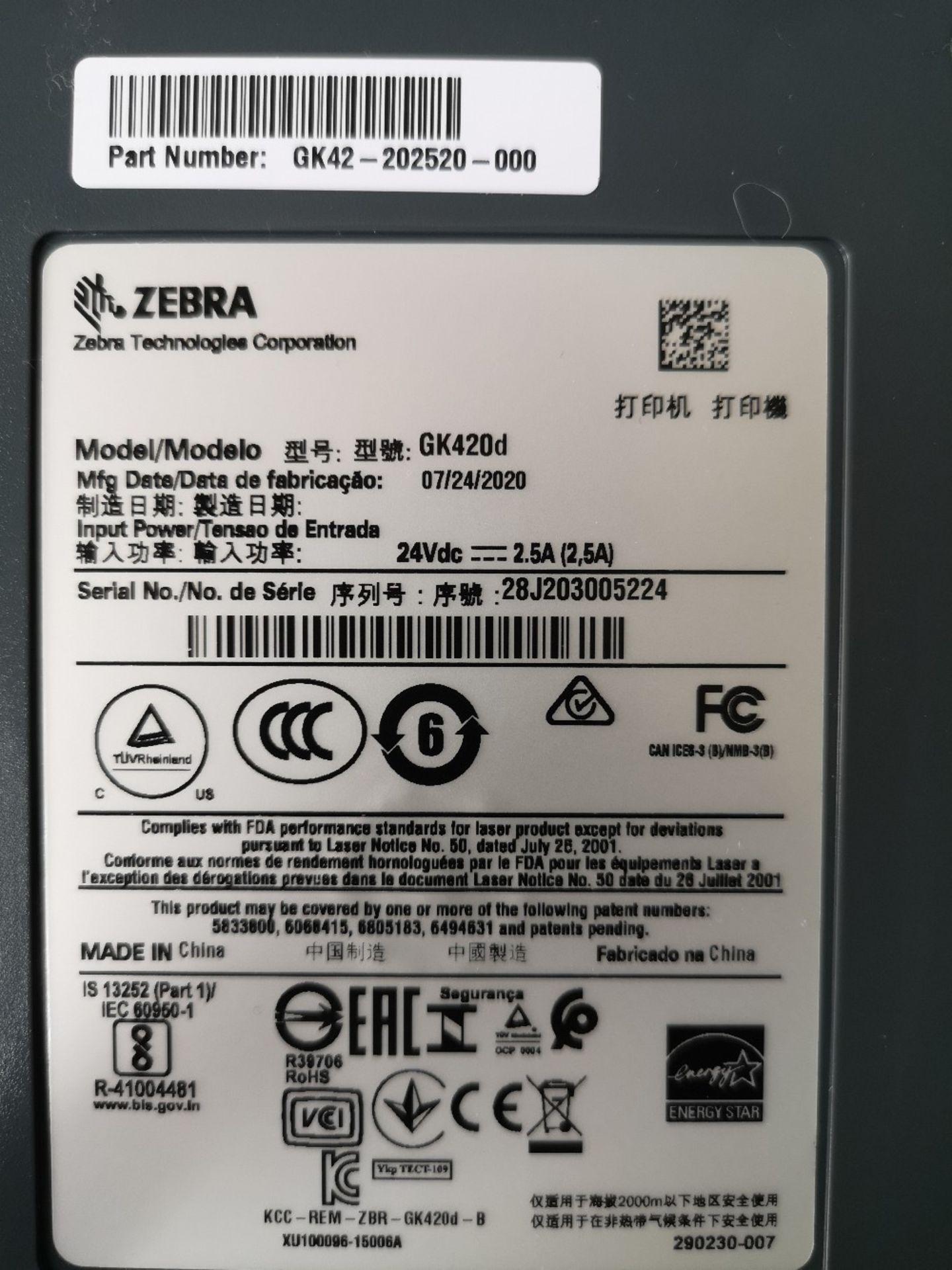 Zebra GK420d Thermal Label Printer - Image 3 of 3