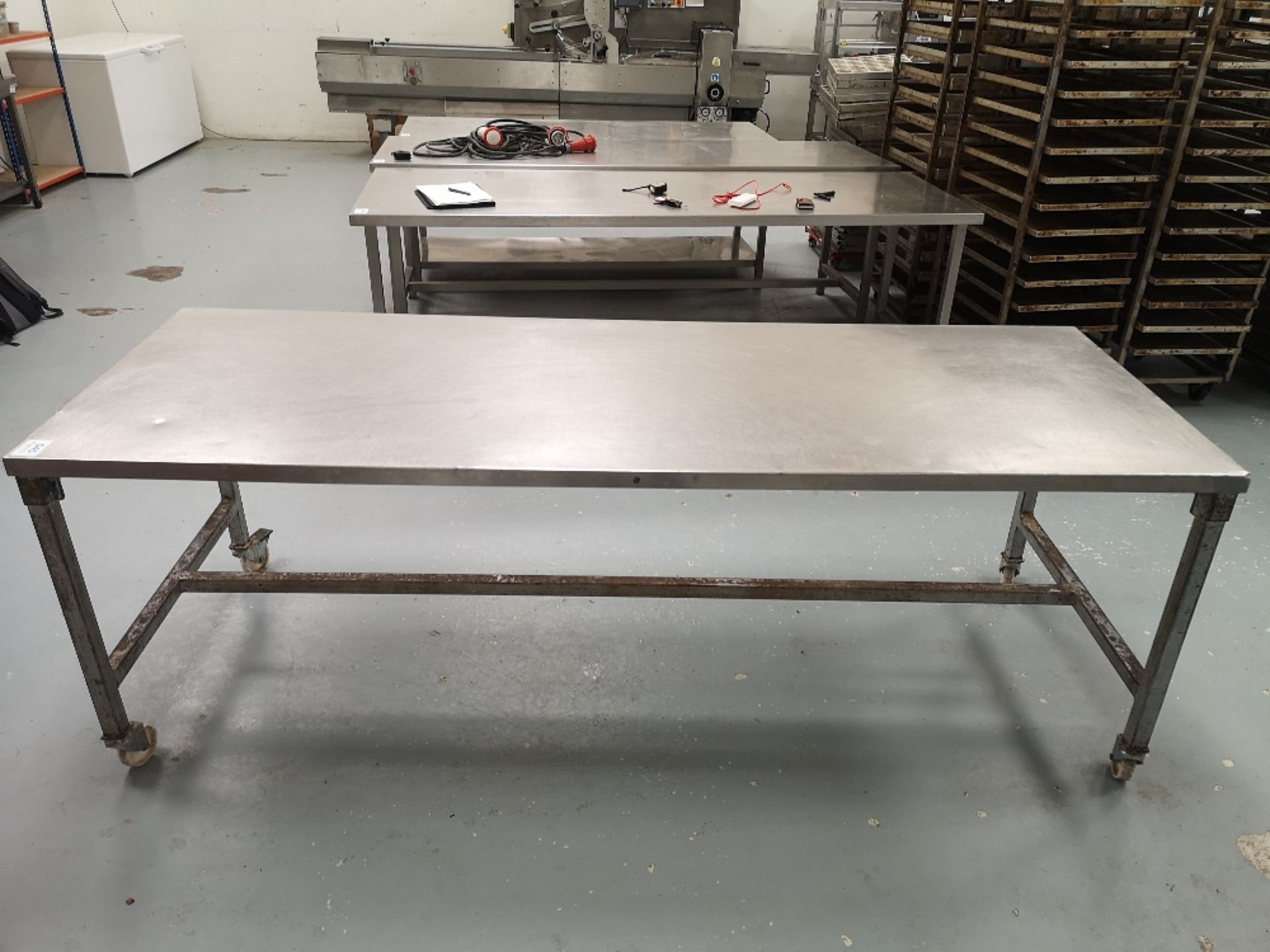 Stainless Steel Mobile Preparation Table