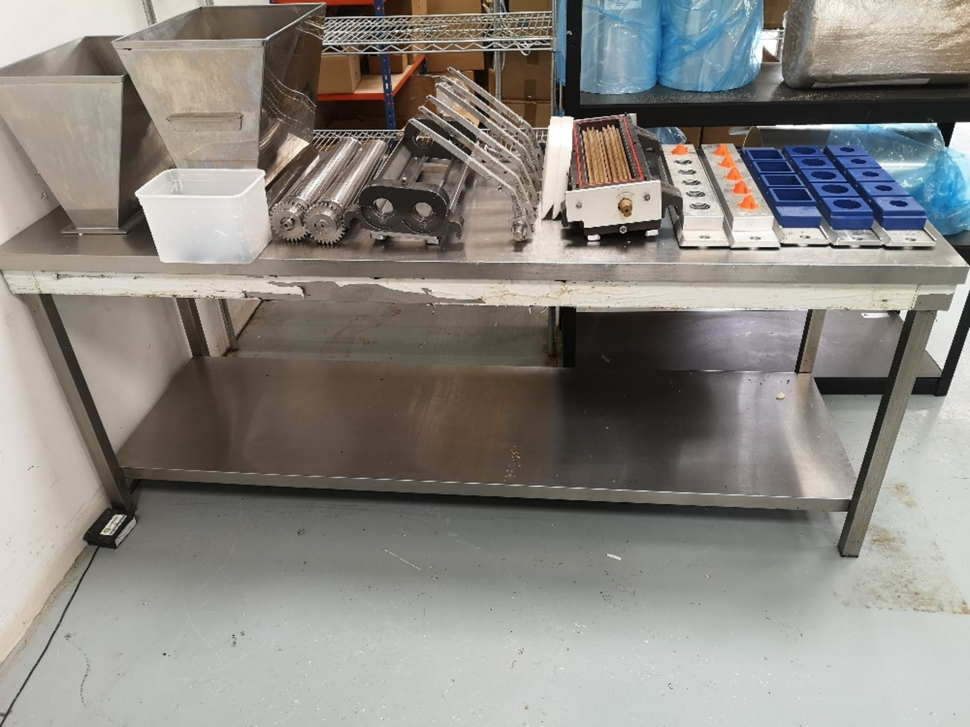 Stainless Steel Two Tier Preparation Table