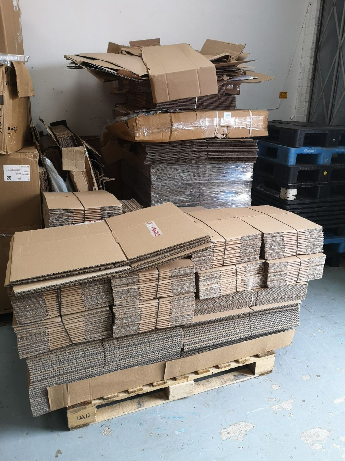 (2) Pallets of Various Sized Cardboard Boxes