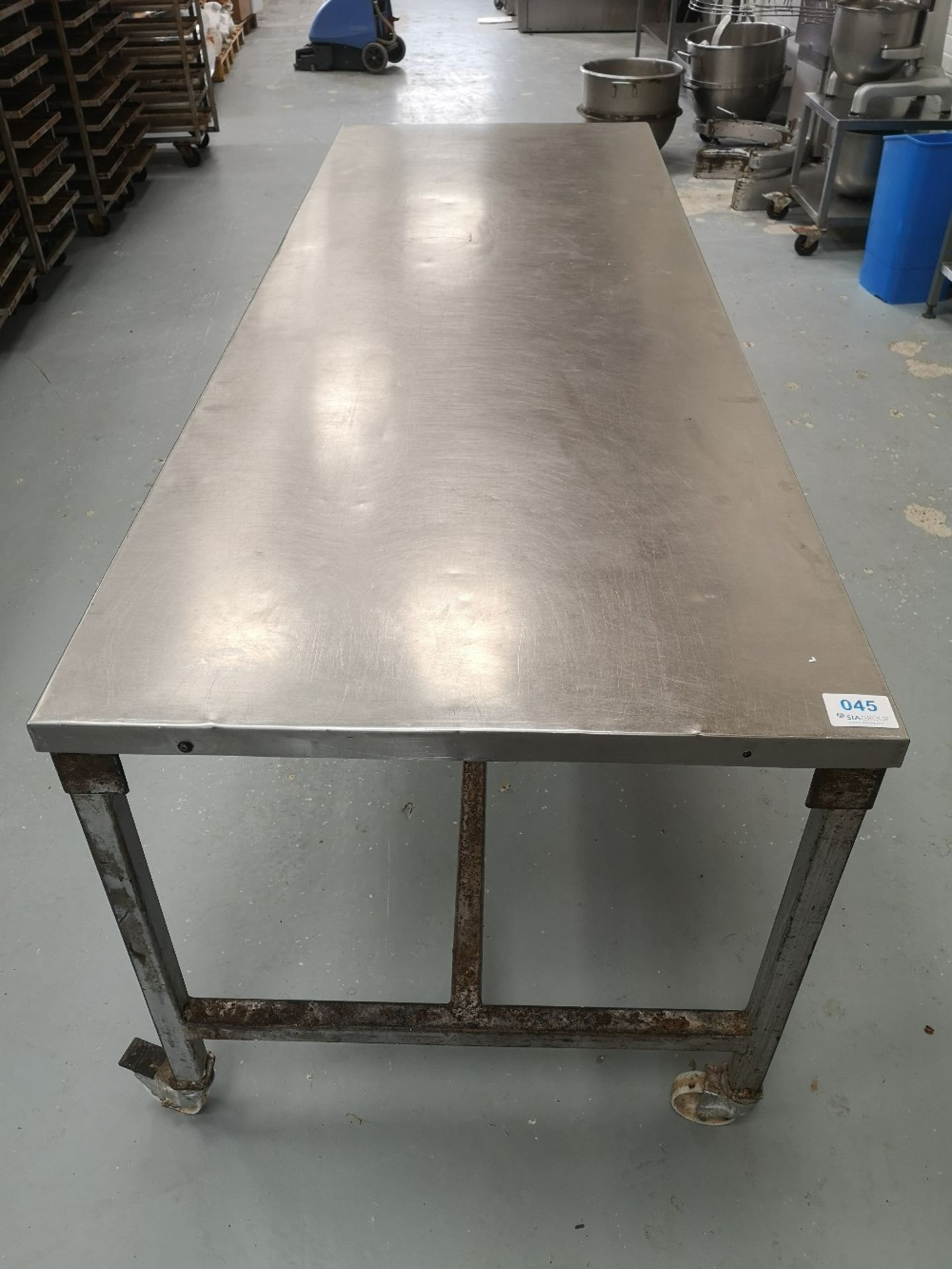 Stainless Steel Mobile Preparation Table - Image 2 of 2