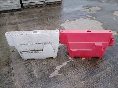 (70) Small Water/Sand Filled Safety Barriers