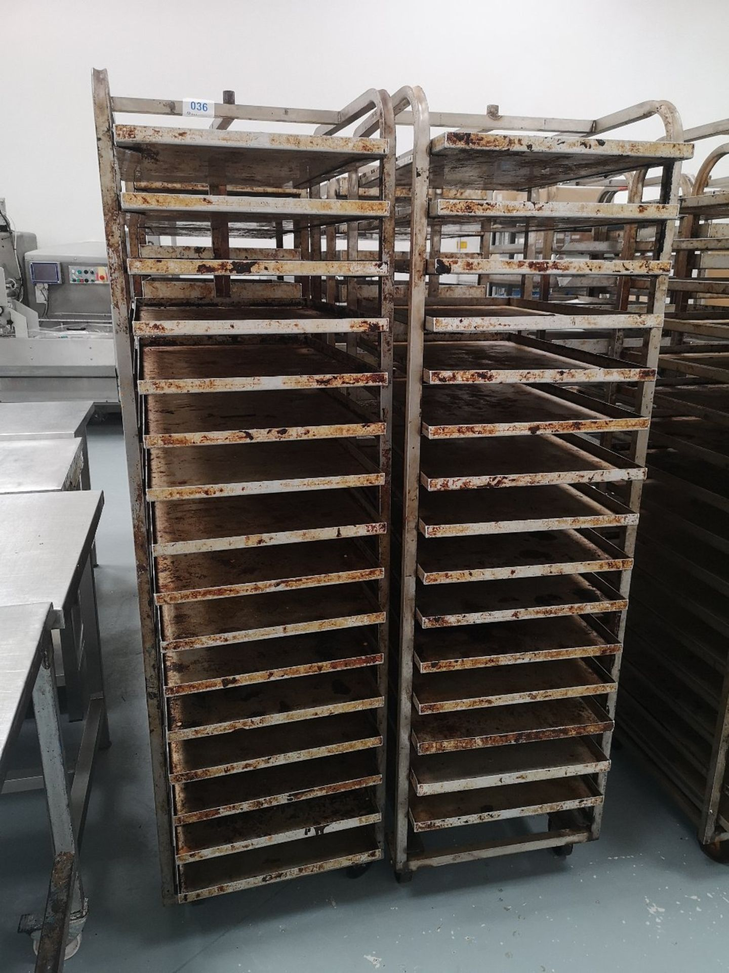 (2) Sixteen Slot Bakery Rack/Tray Stainless Steel Trollies - Image 3 of 3