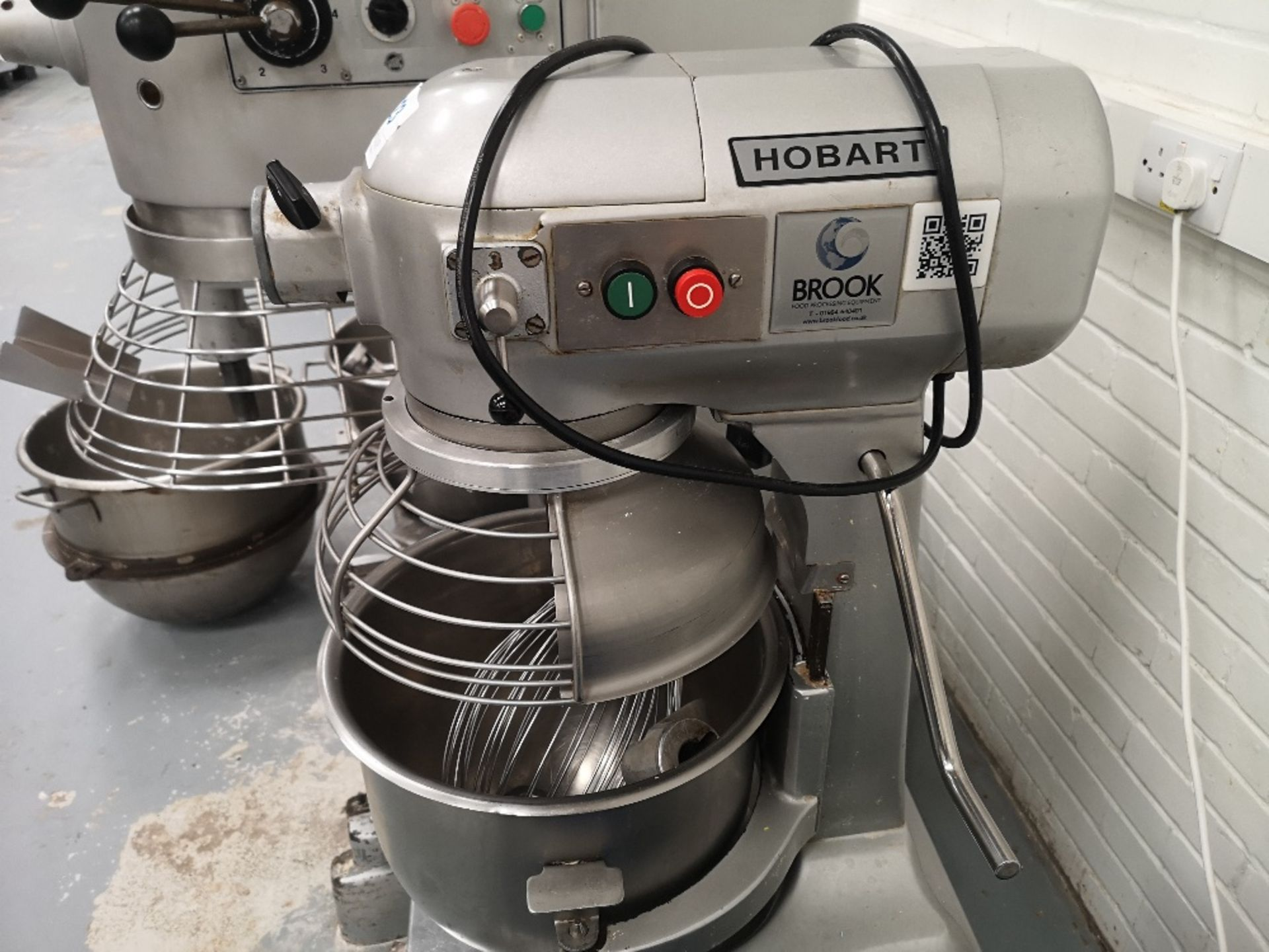 Hobart 20 QRT Planetary Mixer on Stainless Steel Mobile Stand with (2) Mixing Bowls - Image 5 of 6