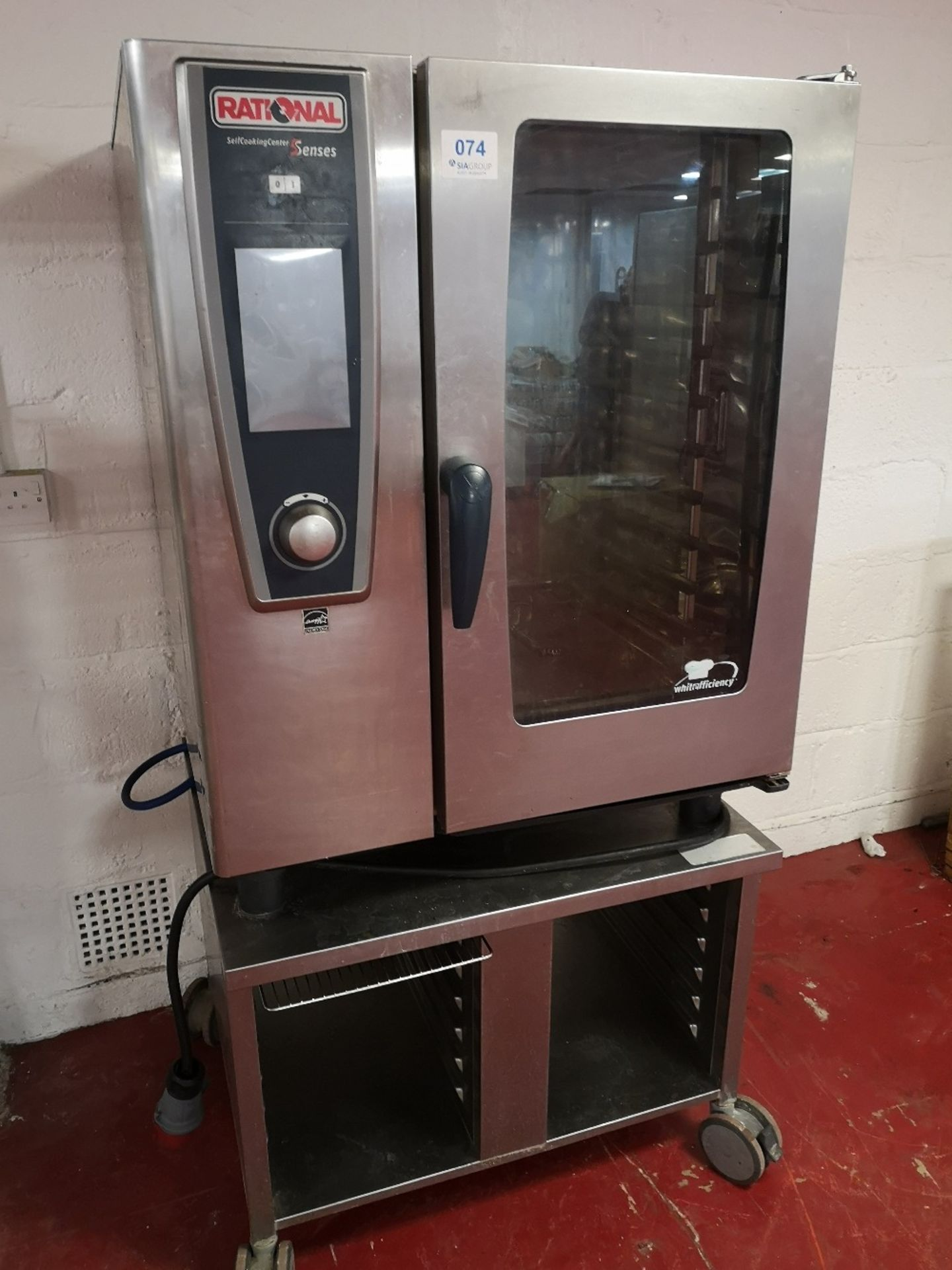 Rational SCCWE101 5 Senses 10 grid Electric Combination Oven on Mobile Stainless Steel Stand - Image 2 of 5