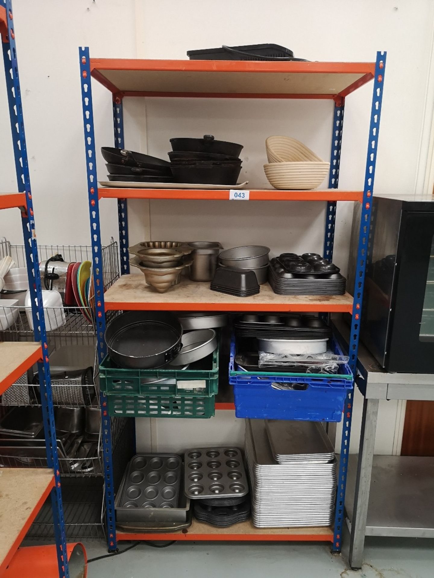 (3) Bays of Five Tier Shelving & Contents