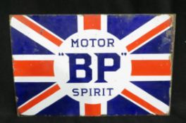Original BP Motor Spirit Enamelled Steel Sign