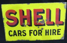 Original Shell Enamelled Steel Sign