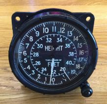 A Rare, Original Altimeter from a WWII Supermarine Spitfire