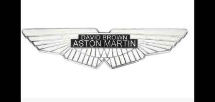 Polished and Painted Cast Aluminium David Brown-Aston Martin Sign