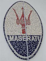 Maserati Mosaic Sign