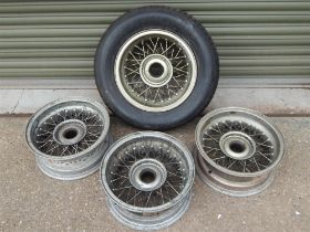1960 - 1963 Ferrari 250 SWB Set of Four Borrani Wire Wheels 15 x 6 RW 3690