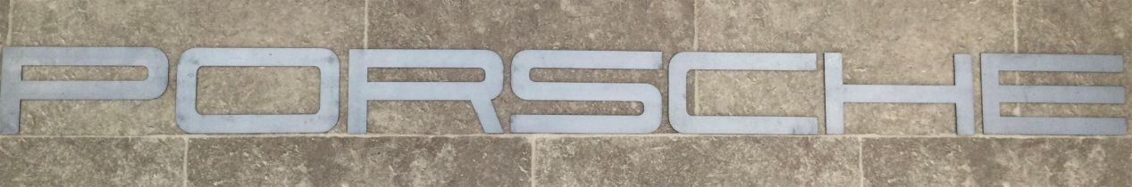 A Rare, Font-Correct Metal 'Porsche' Garage or Wall Sign