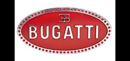 Polished and Painted Cast Aluminium Sign 'Bugatti'