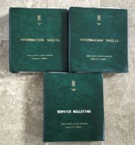 Three Original Rolls-Royce and Bentley Information Sheet and Service Bulletin Branded Folios