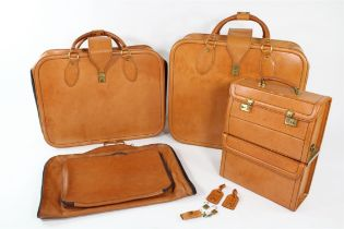 1989 - 1995 Ferrari 348 Complete 5-Piece Schedoni Leather Luggage Case Set