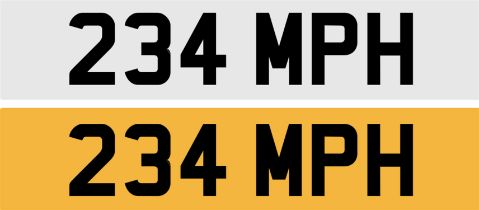 Registration Number 234 MPH