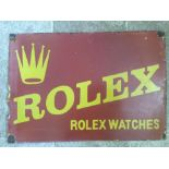 Tin-Plate Enamelled Rolex Advertising Sign