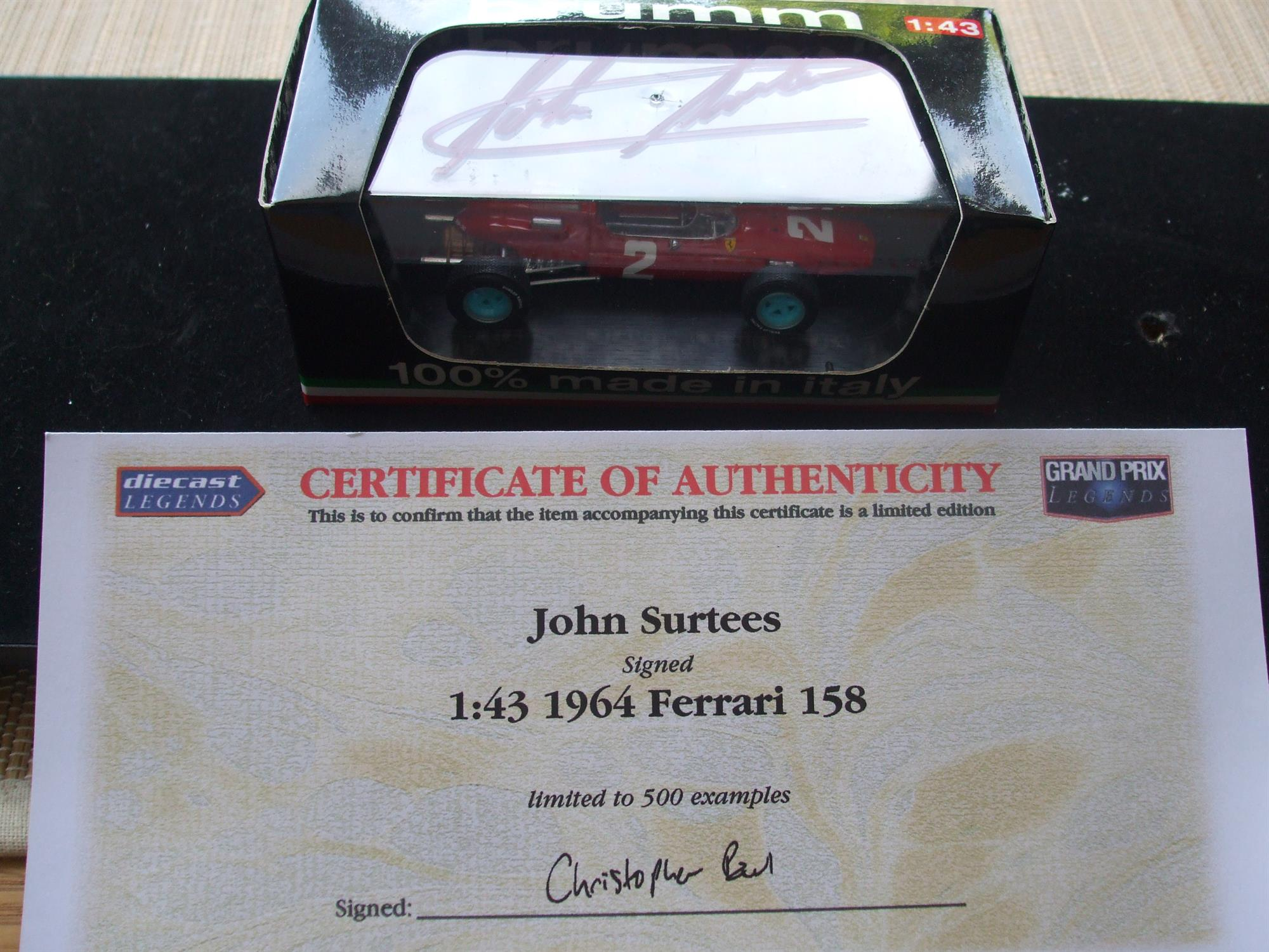Superb John Surtees Tribute Collection of Models and Memorabilia - Image 5 of 8