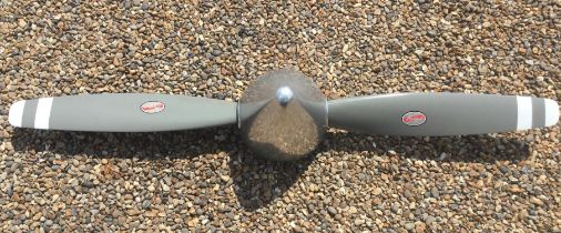 A Superb Polished Aluminium Twin-Blade Hartzell Aircraft Propeller