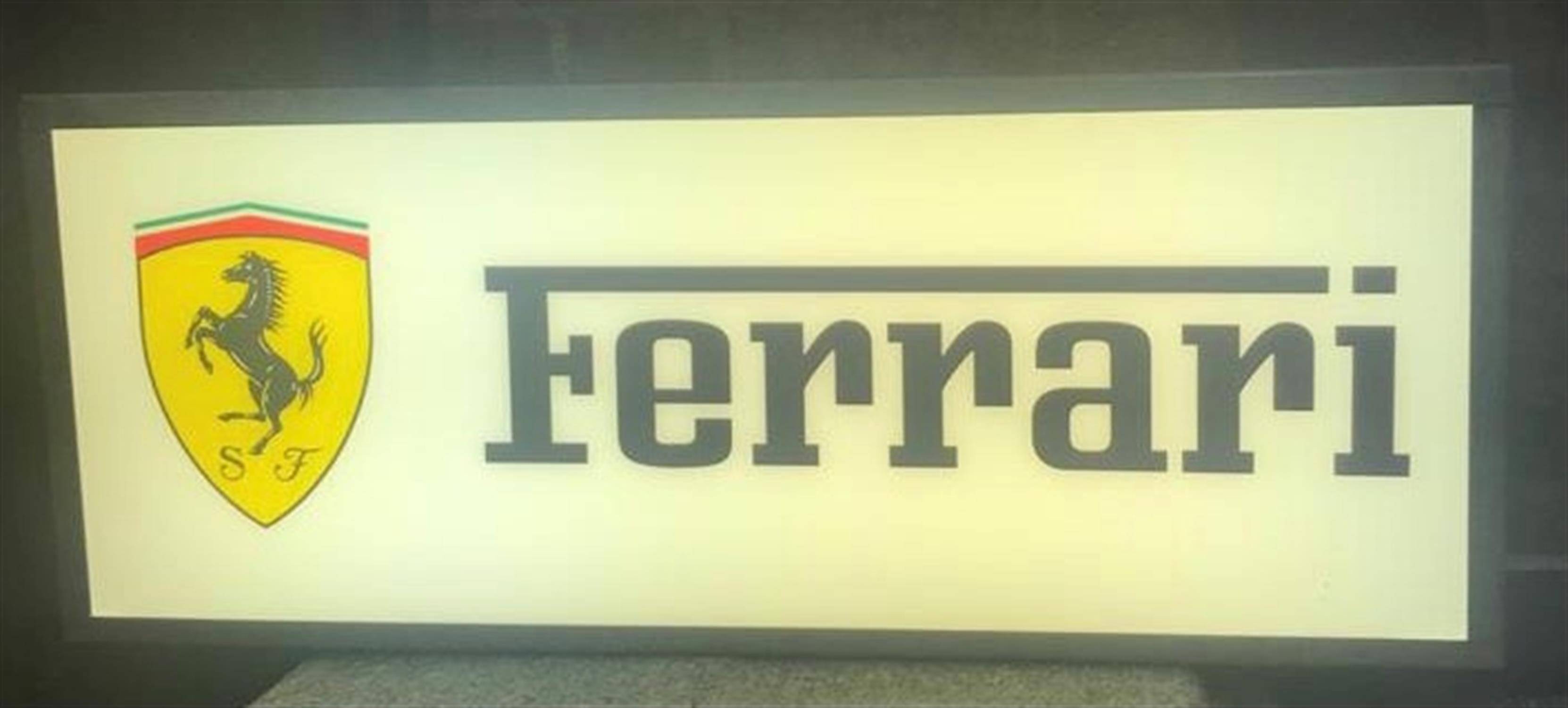 A Classic Ferrari-Themed Illuminated Sign - Image 2 of 3