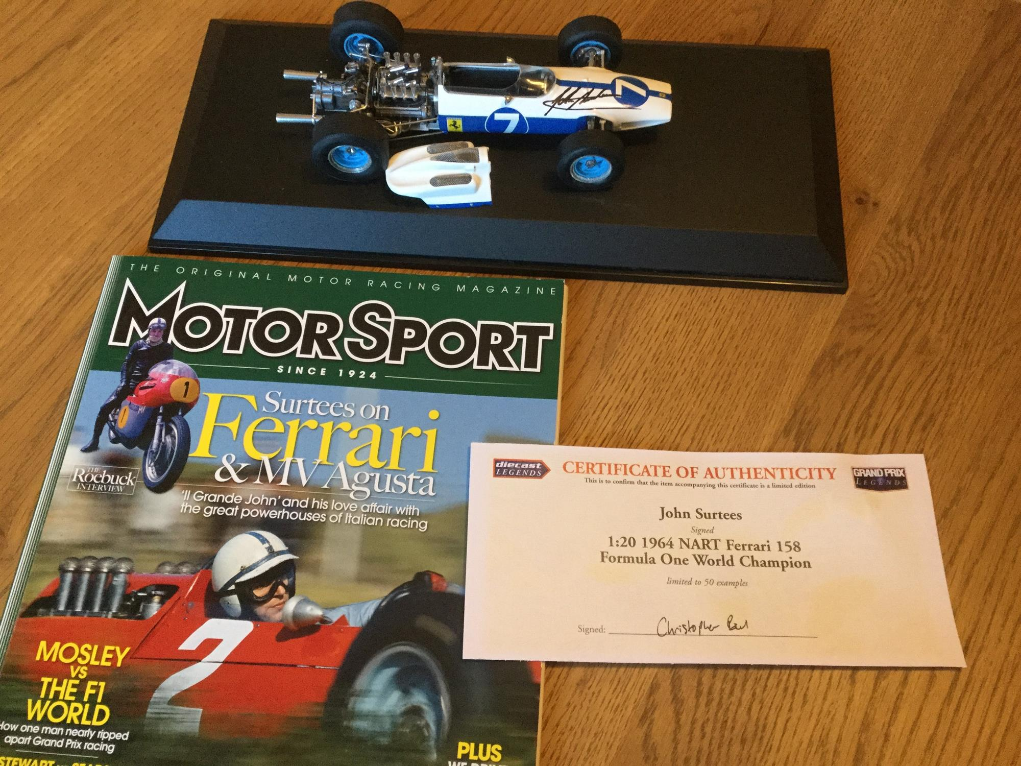 Superb John Surtees Tribute Collection of Models and Memorabilia - Image 4 of 8
