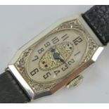 A Rare 14ct Gold Art Deco Gruen Ladies Manual-Wind Wristwatch