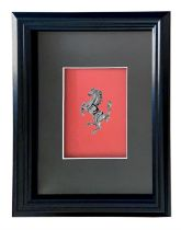 Mounted and Framed Cavallino Rampante*